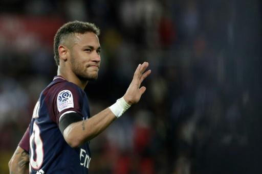 L'attaquant du PSG Neymar lors d'un match contre Toulouse, le 20 août 2017 au Parc des Princes