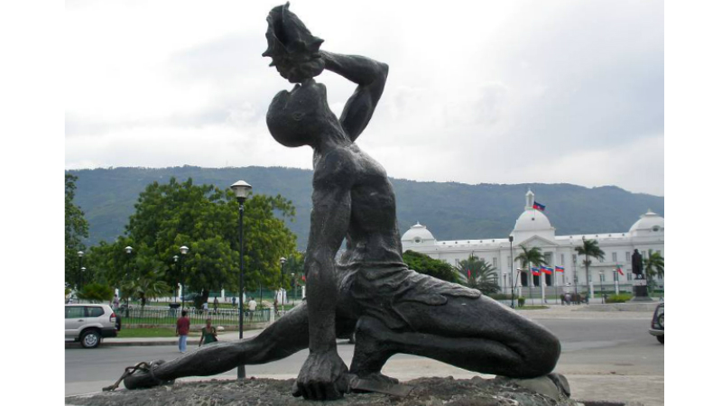 'The Unknown Slave' in Port-au-Prince, Haiti.