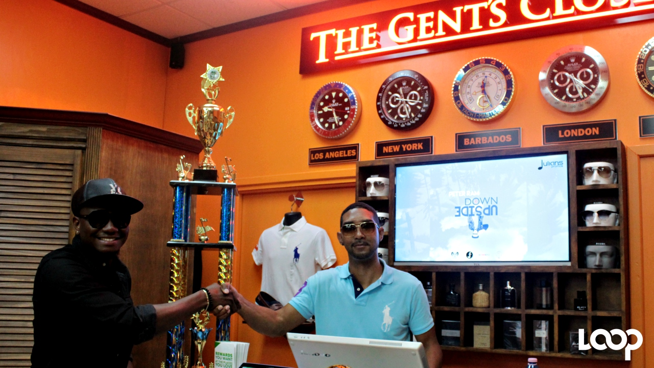 2017 Pic-O-De-Crop Monarch, Ian 'iWeb' Webster, with store owner of The Gent's Closet, Matthew Jordan.
