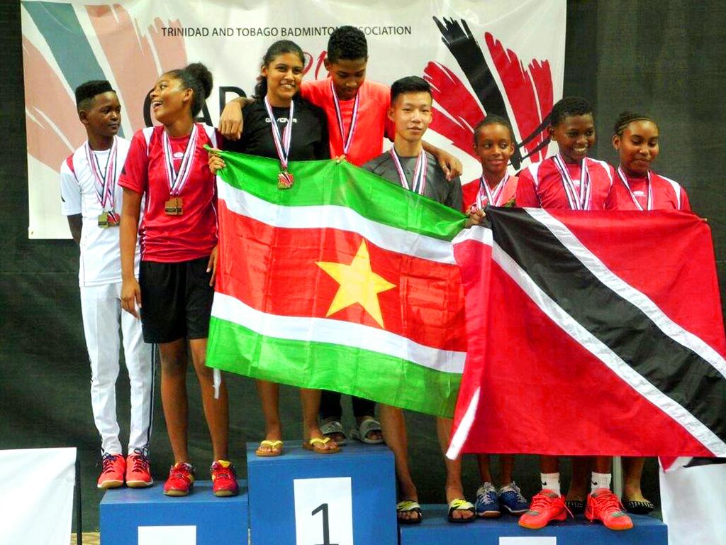 De Surinaamse badmintonners hebben 9 gouden medailles, 6 zilveren medailles en 6 bronzen medailles gewonnen. (Foto: Facebookpagina Surinaamse Badminton Bond)