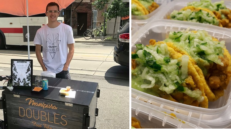 23-year-old Canadian, Lucas Boers, is getting rave reviews after launching his doubles food trike in Toronto.