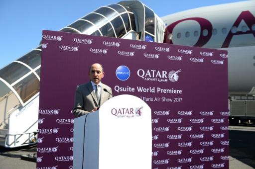 Le PDG de Qatar Airways, Akbar al-Baker, au Bourget le 19 juin 2017