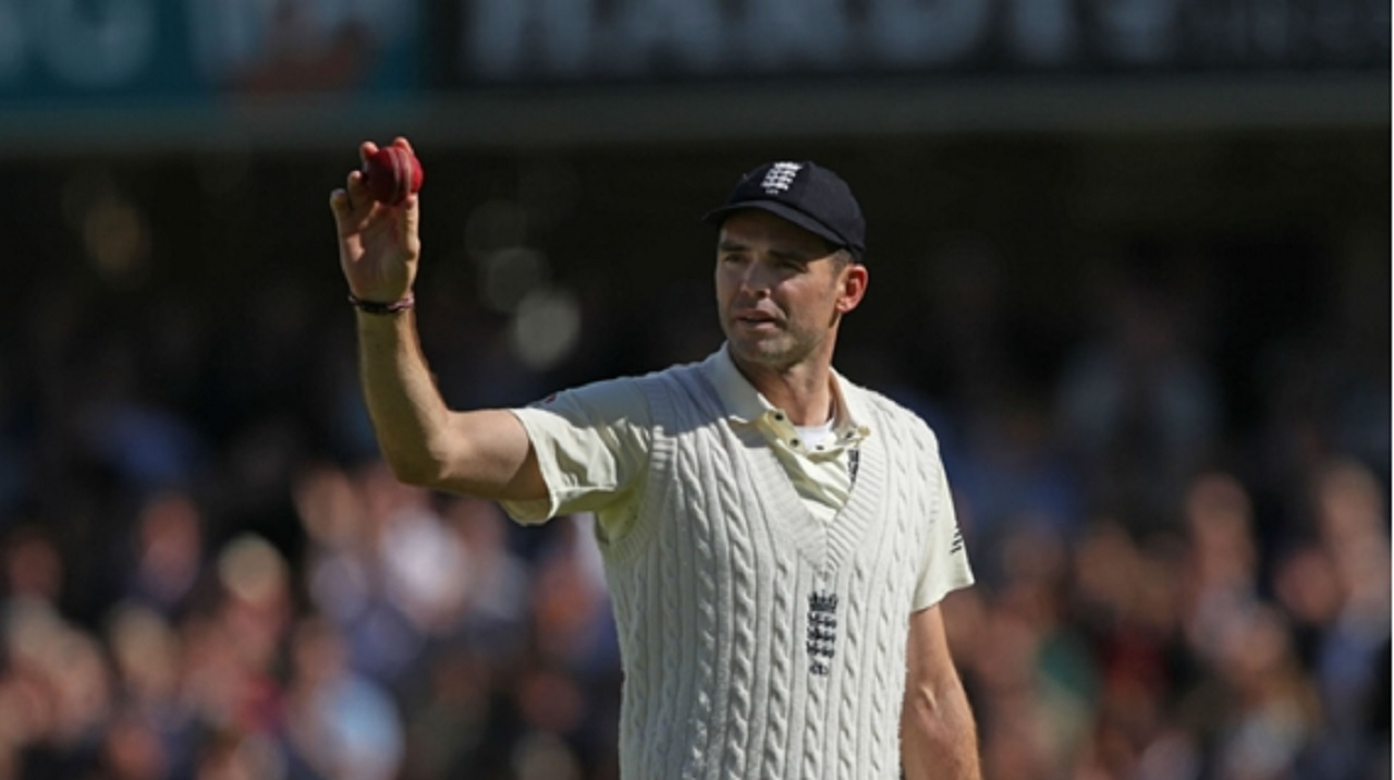James Anderson toasts his seven-wicket haul at Lord's.