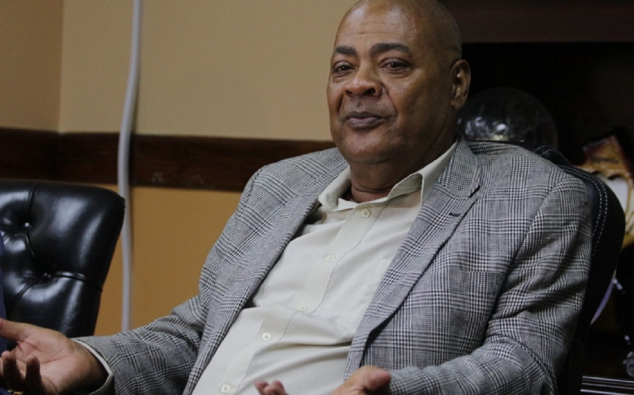 New president of the Jamaica Football Federation (JFF),  Michael Ricketts at a Press Conference on Saturday at the  JFF's offices in New Kingston.