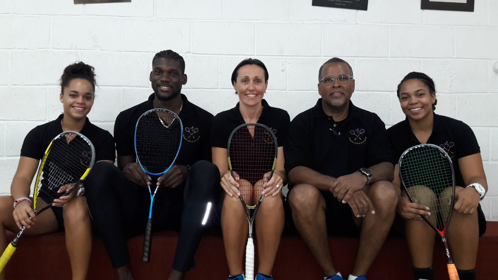 The Barbados team that will be heading to the Senior Pan American Squash Championships.