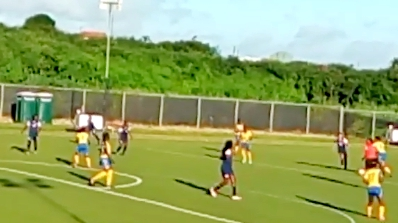 The Barbados Senior Women's Football Team, created history when they played the Turks and Caicos Islands.