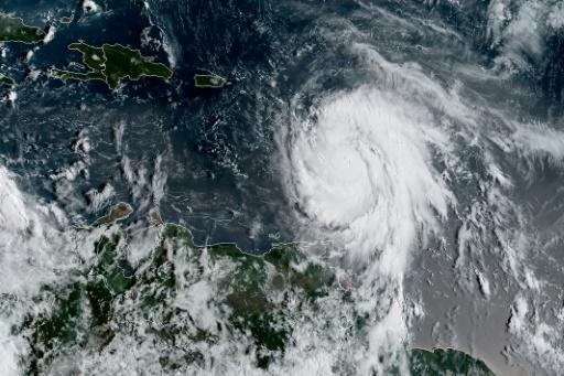 Image satellite de l'ouragan Maria, le 18 septembre 2017