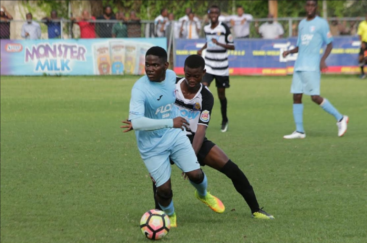 St George's College and Tarrant High in action in their opening game of the 2017 ISSA/FLOW Manning Cup football competition on September 11.