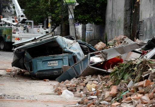 Dégâts causés par le séisme à Mexico, le 8 septembre 2017