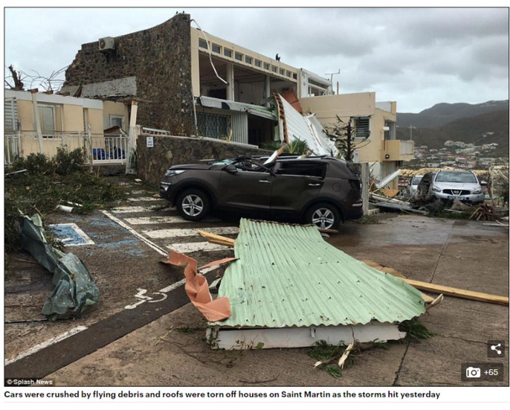 Effects of Hurricane Irma in St Maarten.