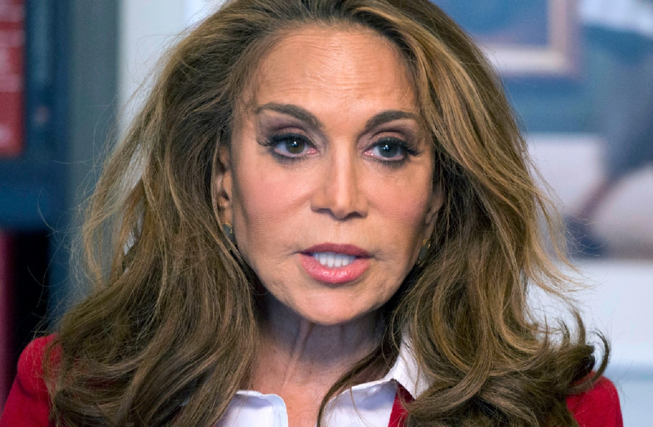 In this May 7, 2015 file photo, Pamela Geller speaks during an interview at The Associated Press in New York. A trial is set to begin on Wednesday, Sept. 20, 2017, in federal court in Boston for David Wright of Everett, Mass., accused of participating in a 2015 plot for the Islamic State group to behead Geller, a conservative blogger.