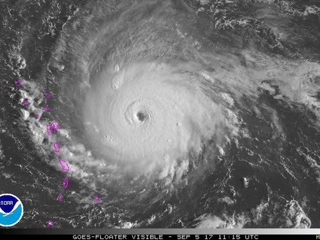 Hurricane Irma strengthened is now a Category 5 storm.  (Photo: NOAA)
