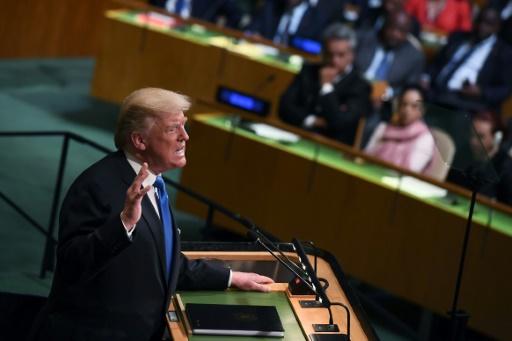 Le président américain Donald Trump, le 19 septembre 2017 à l'Assemblée générale des Nations unies à New York