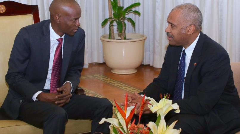 Le president Jovenel Moise et le premier ministre Jack Guy Lafontant.
