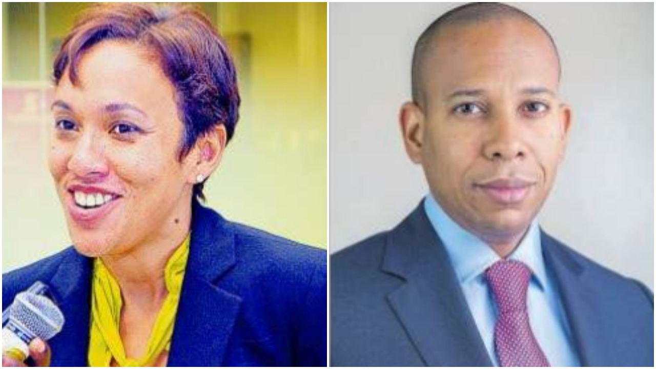 Outgoing CEO of  Scotia Bank Jamaica Limited Jacqueline Sharp and David Noel will be her successor. (Internet images)