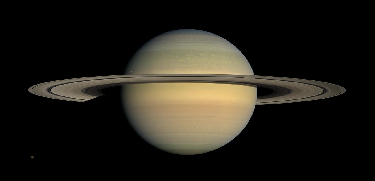 This July 23, 2008 image made available by NASA shows the planet Saturn, as seen from the Cassini spacecraft. After a 20-year voyage, Cassini is poised to dive into Saturn on Friday, Sept. 15, 2016.