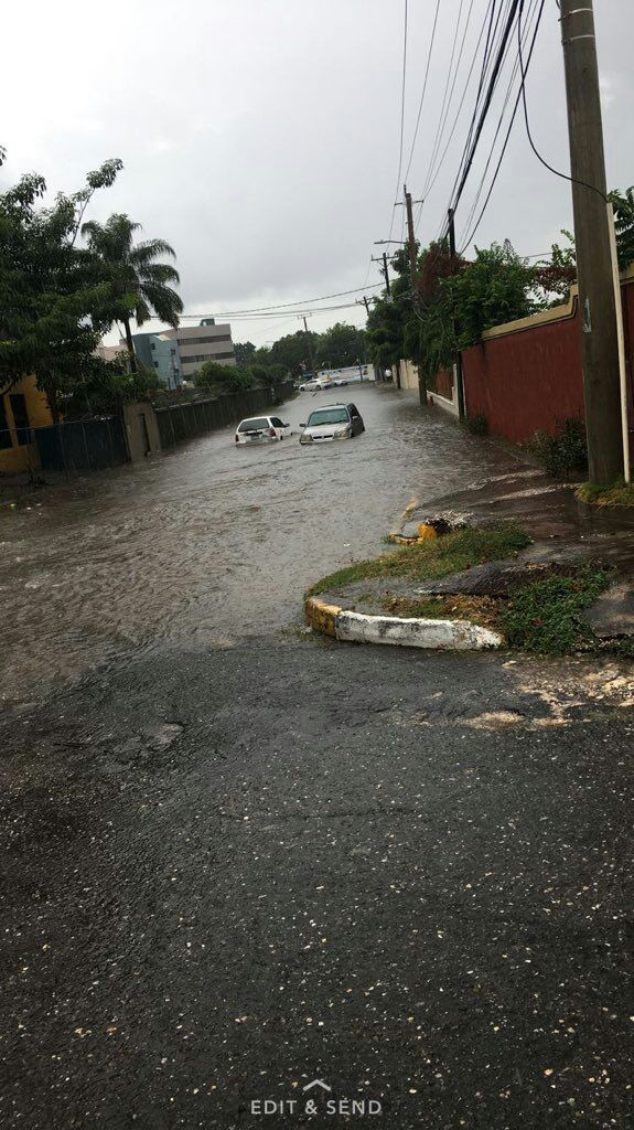 The Meteorological Service says a Trough associated with the system is now across Jamaica.