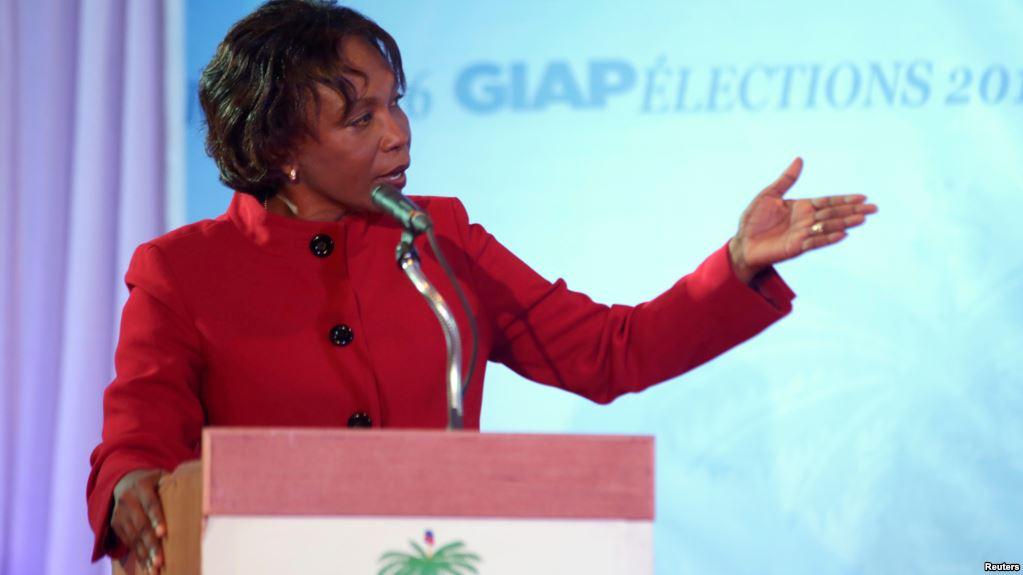 La présidente du parti Fusion Edmonde Supplice Beauzile. Crédit photo: www.voanouvel.com