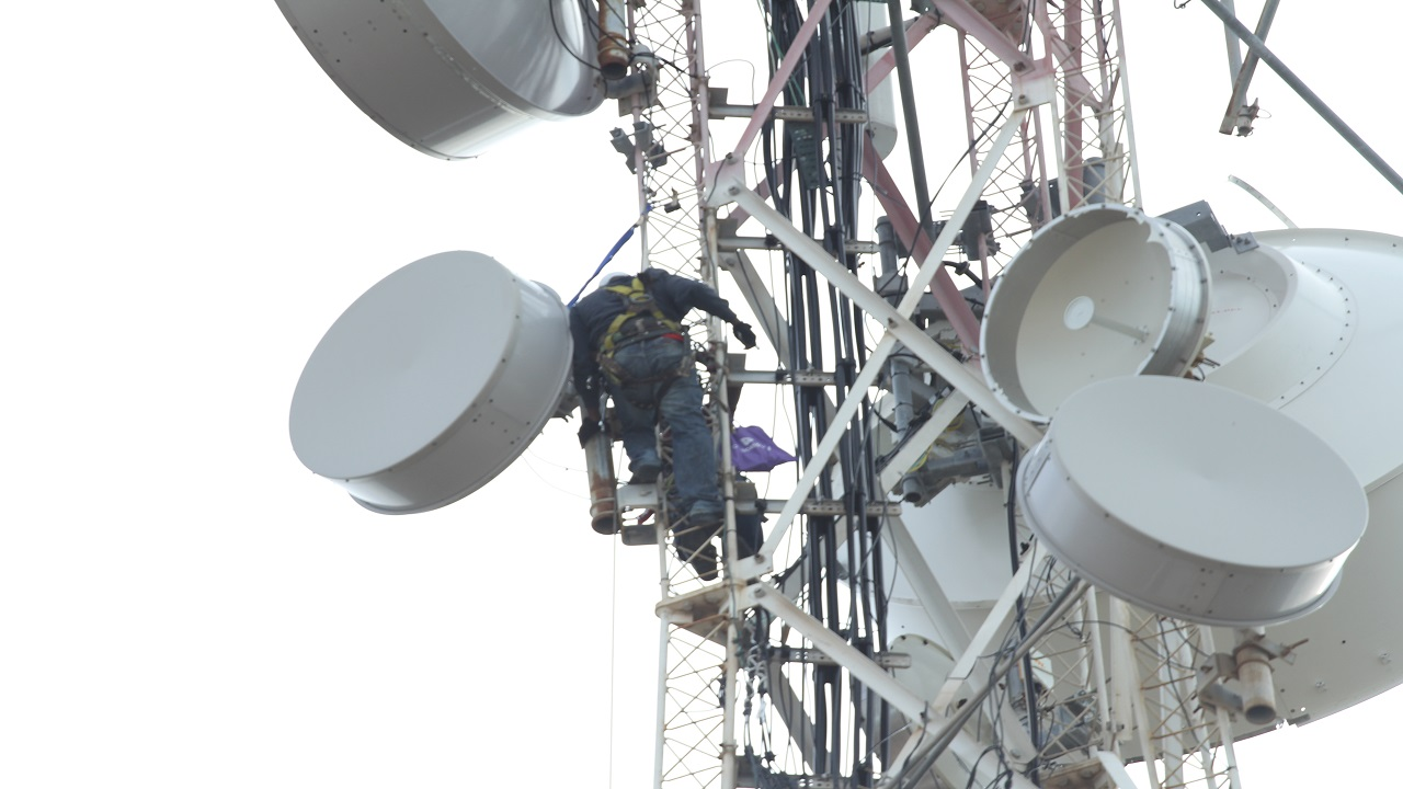 Mobile network engineers climb towers and check equipment as Digicel moves closer to 100 per cent service restoration following the passage of Hurricanes Irma and Maria.