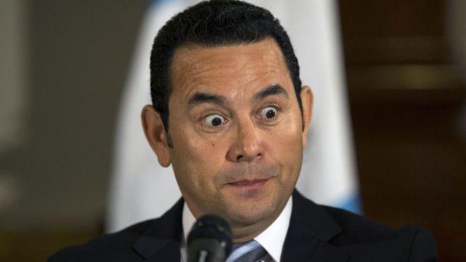 Le président guatemaltèque, Jimmy Morales./ Credit photo: BBC.com