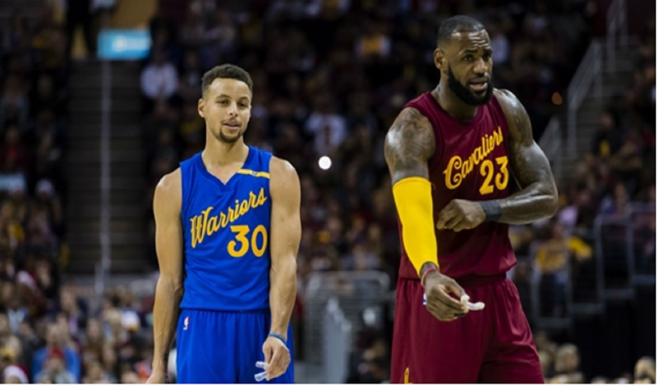 Stephen Curry and LeBron James.