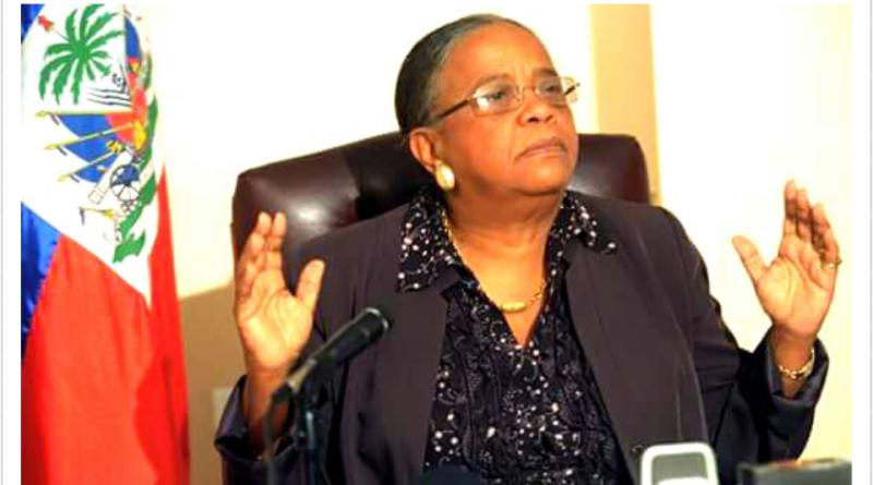 L'ancienne candidate à la présidence Mirlande Manigat.