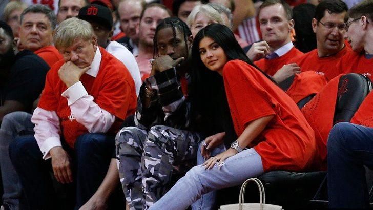 Kylie samen met Travis Scott in april eerder dit jaar (Foto: TMZ)