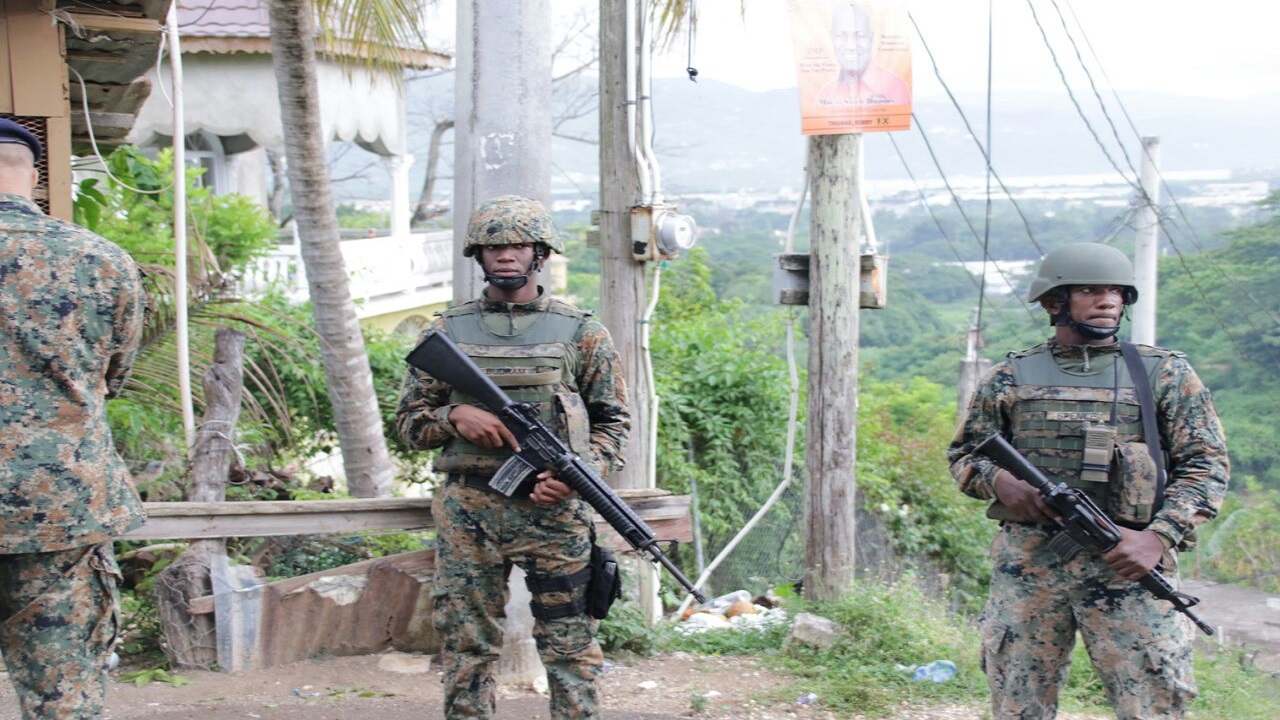 JDF soldiers in the Mount Salem Zone of Special Operations.