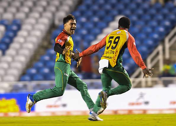 Khan took the CPL' first hat-trick