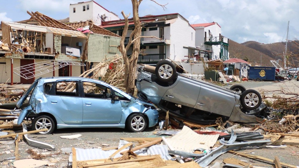 The British Virgin Islands (BVI) post Hurricane Irma.