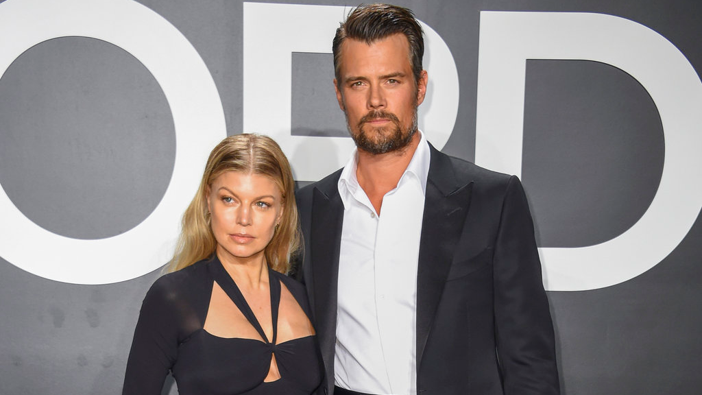 In this Feb. 20, 2015 file photo, singer Fergie, left, and actor Josh Duhamel arrive at the Tom Ford Autumn/Winter 2015 Womenswear Presentation in Los Angeles. (Photo by Rob Latour/Invision/AP, File)