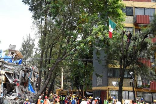 Les décombres des immeubles, après un séisme à Mexico, le 22 septembre 2017