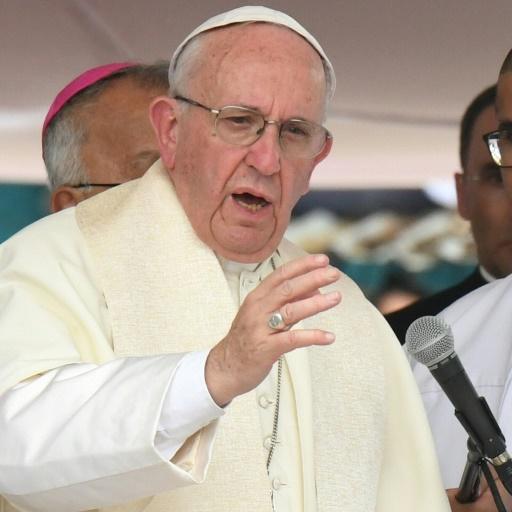 Le pape François lors d'une cérémonie, le 10 septembre 2017 à Carthagène, en Colombie