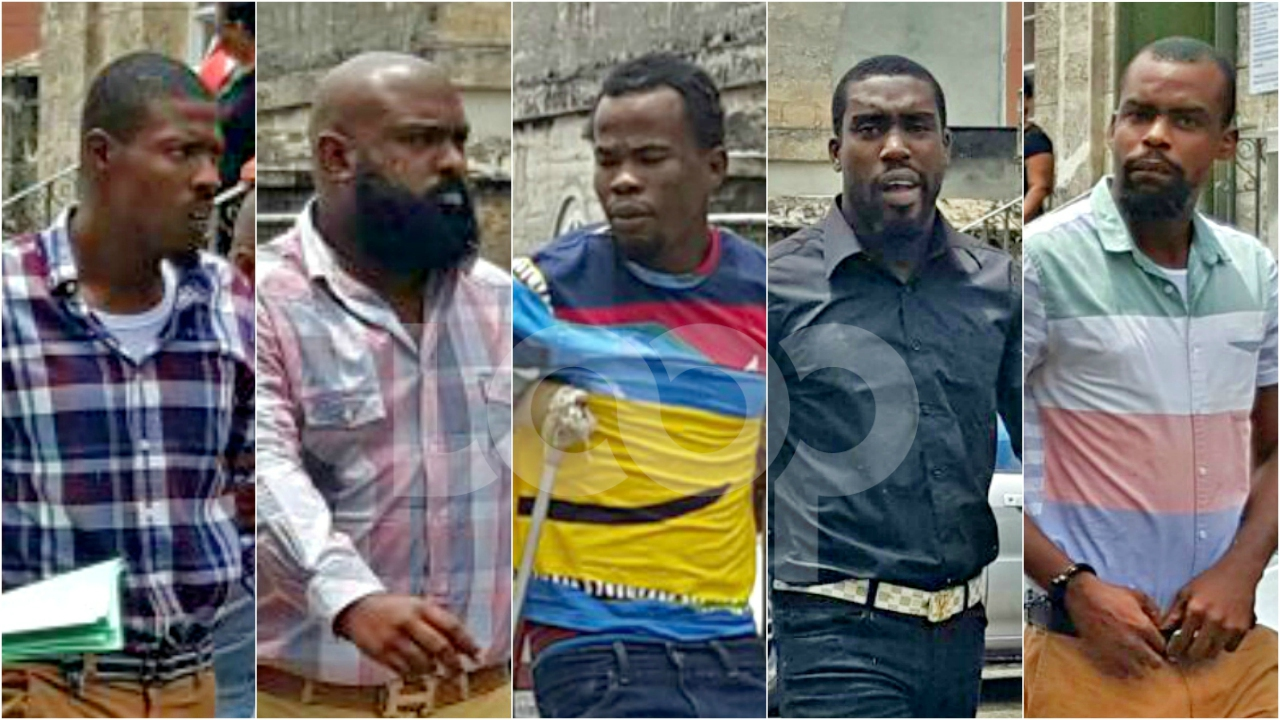The five murder accused appeared in the District A Magistrates Court today.