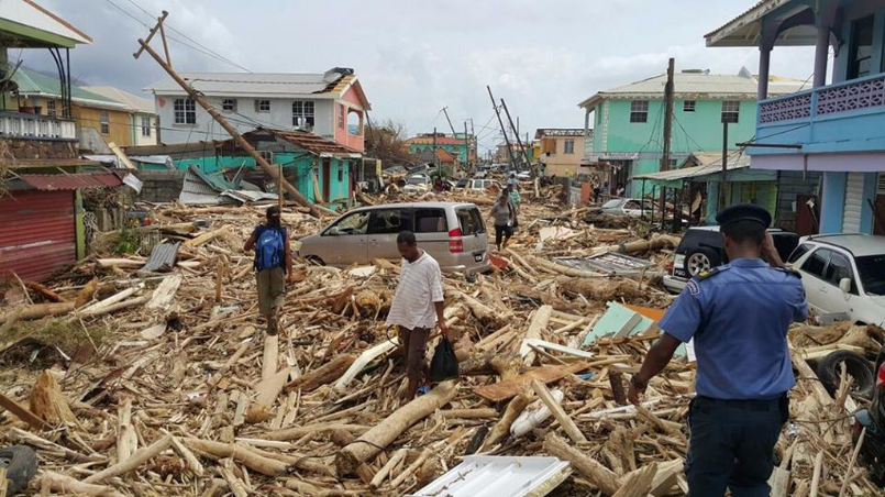 Devastated Dominica following the passage of Hurricane Maria.