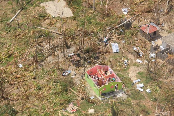 Le Sud d'Haiti durement touché par l'ouragan Matthew en octobre 2016./Photo: www.un.org