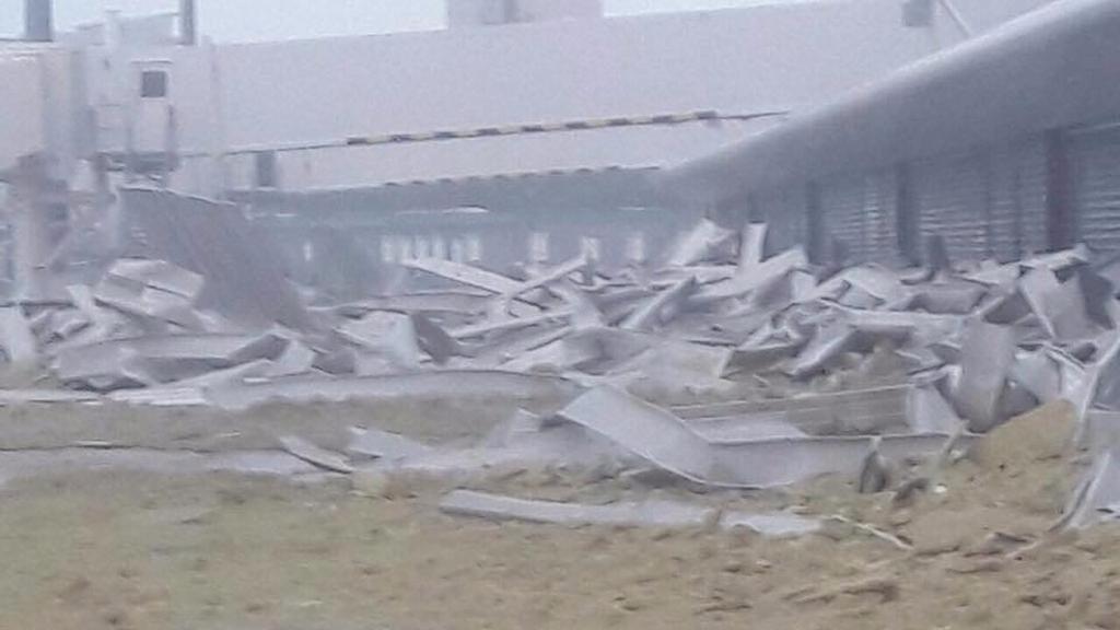 Princess Juliana Airport Severely Damaged
