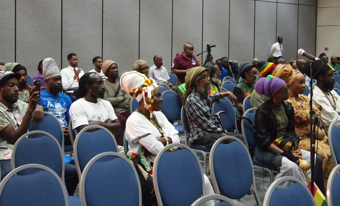 The Rastafarian community was well represented during the Regional Marijuana Commission.