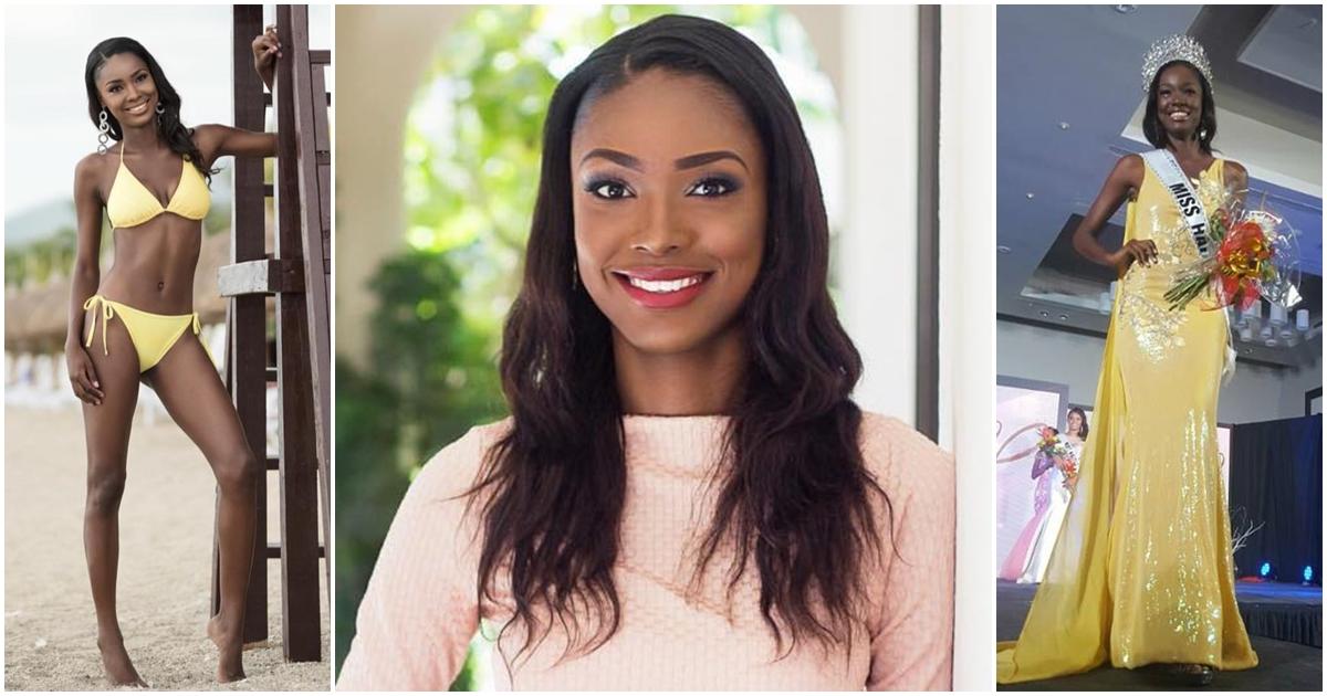 Cassandra Chéry, élue à 21 ans Miss Univers Haiti 2017