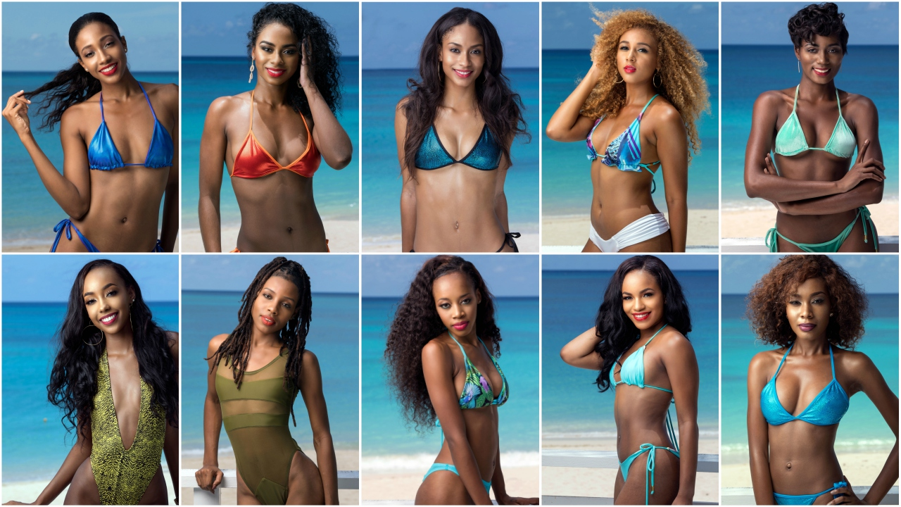 Delegates of the 2017 Miss Universe Barbados pageant.