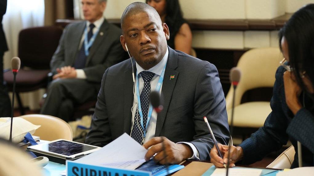 Minister Patrick Pengel van Volksgezondheid. Foto: PAHO