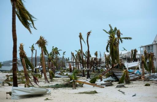 Les dégâts provoqués par le passage de l'ouragan Irma, le 6 septembre 2017 sur l'île de Saint-Martin