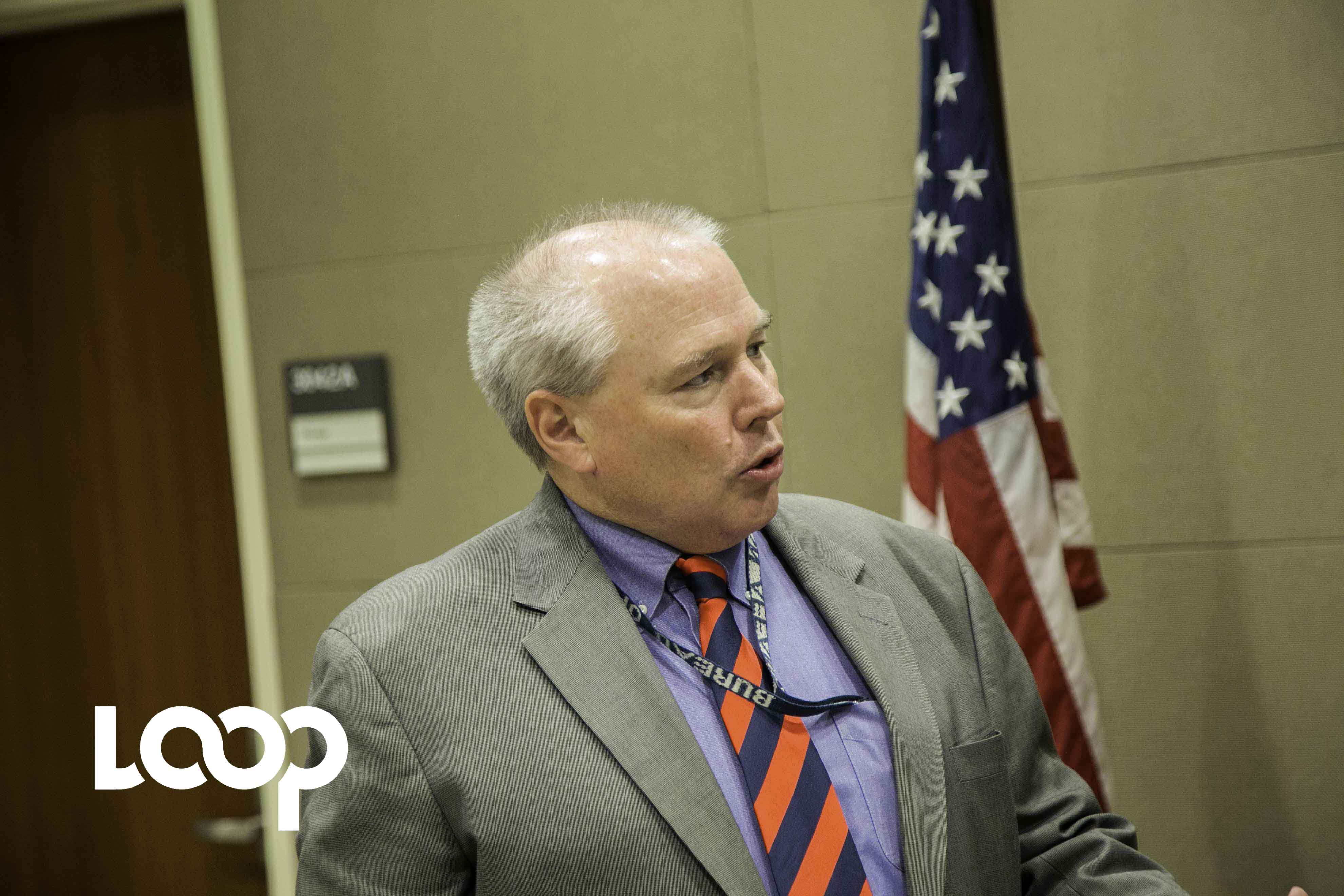 M. Robert F. Hannan, Jr, consul général de l'ambassade des Etats-Unis à Port-au-Prince. Photo : Estailove St-Val