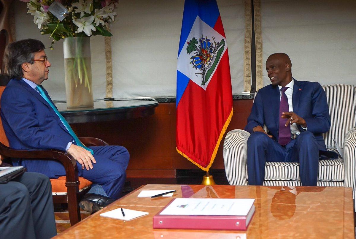 Le président Jovenel Moïse en audience avec le président de la BID Luis Alberto Moreno à New-York. Credit photo: La Présidence.