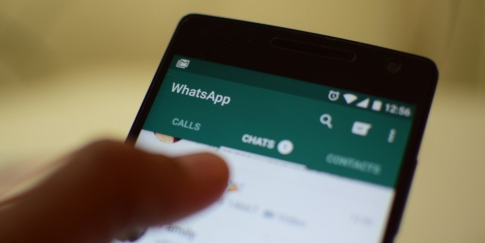 Interface de l'application de messagerie Whatsapp. Credit photo: Trak. In
