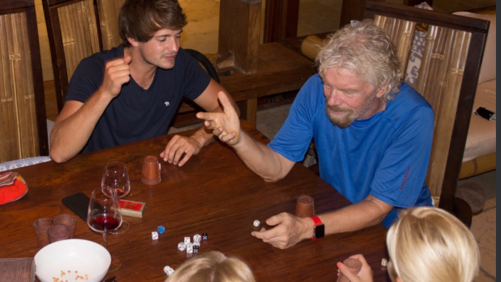 Virgin founder Richard Branson stayed in the wine cellar of his private home of Necker Island