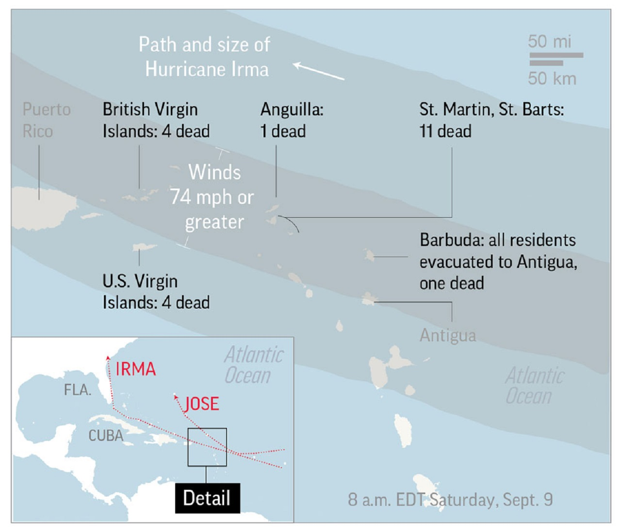 More than 20 dead across the Caribbean