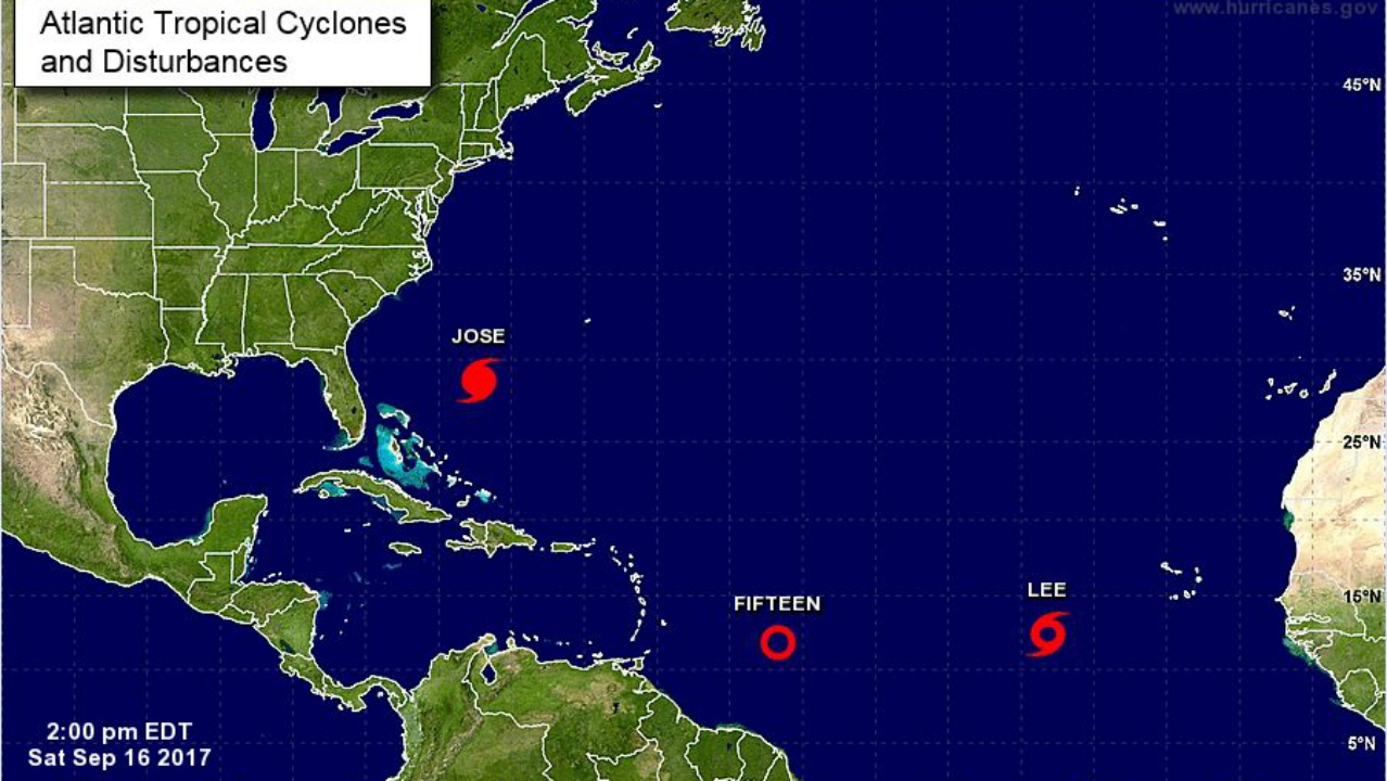 Hurricane Maria intensifies into Category 3 as it heads for the Caribbean