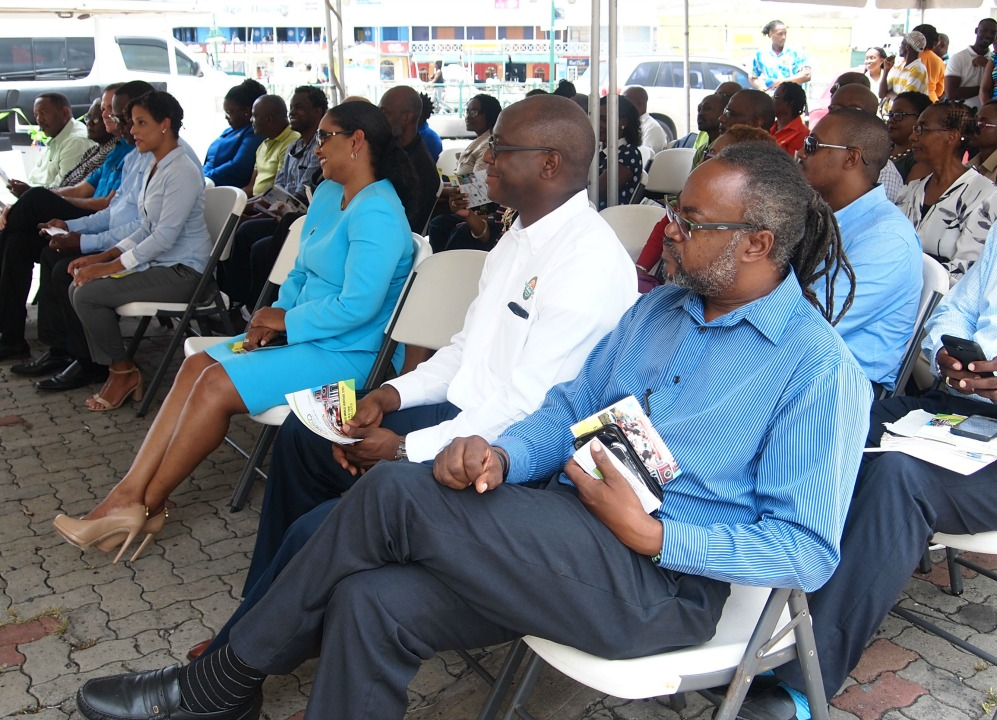 Members of the business community at the launch of the Solar Transport Project initiated by the Small Business Association of Barbados (SBA).