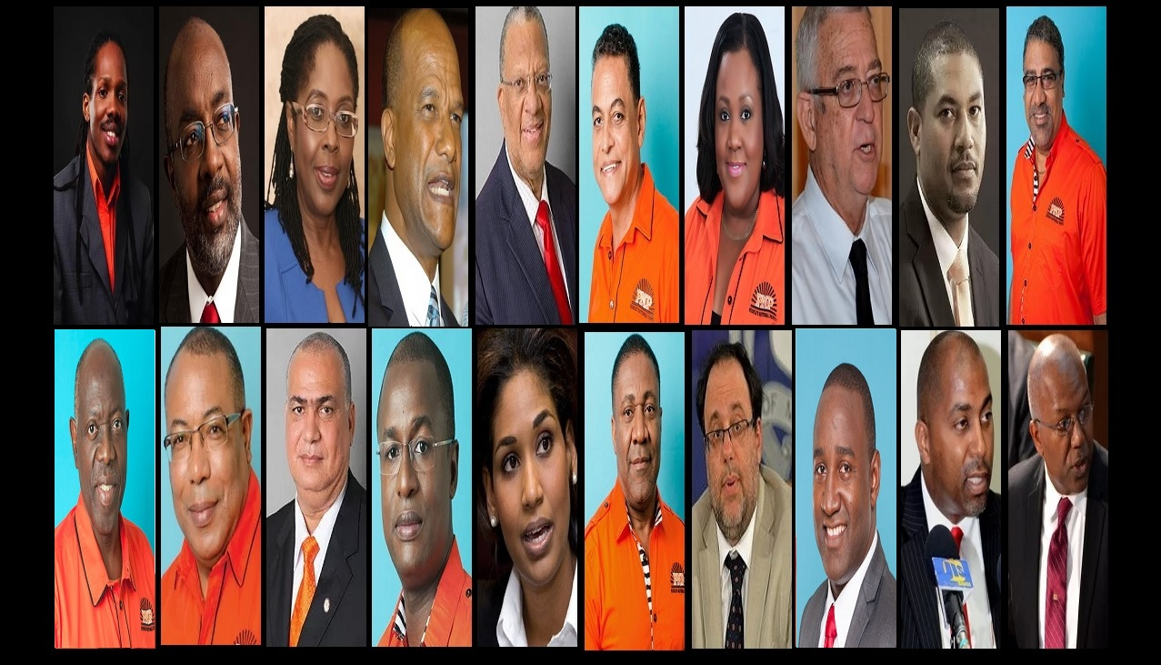 Members of the PNP's Shadow Cabinet that was announced on Thursday.